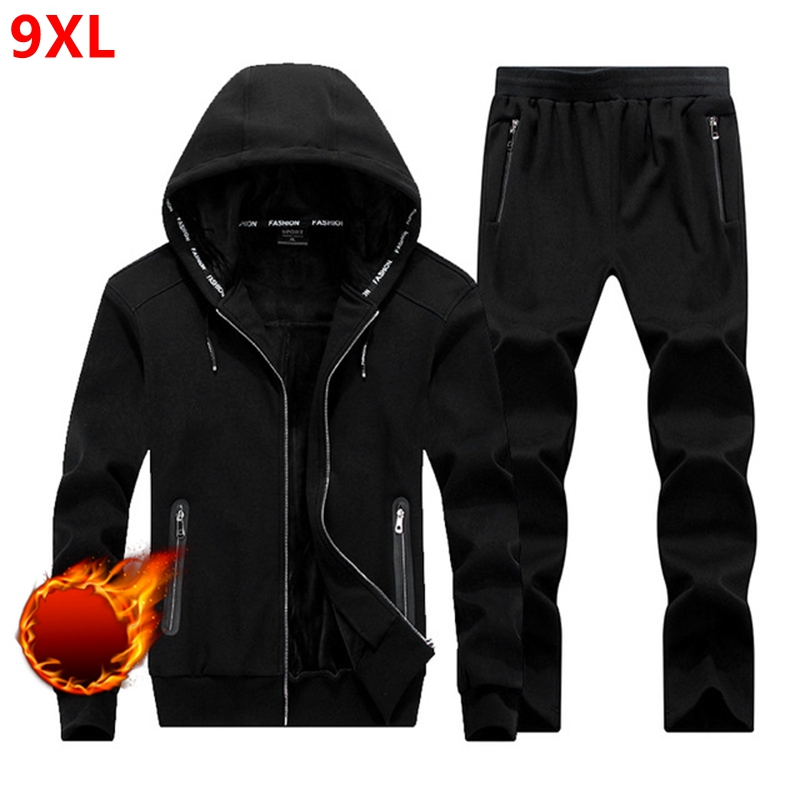 93b6accbd78 Winter Large size sweater suit male Hooded Fleece with thickened kid size  big yards male adolescent