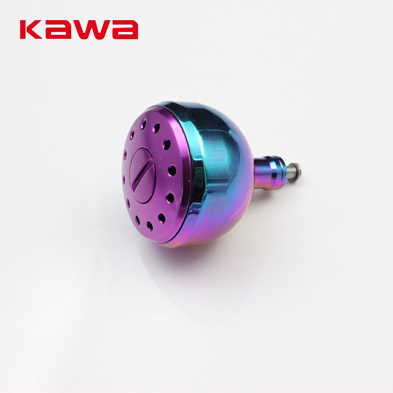 Kawa New Reel Knob Fishing Reel untuk Spinning Reel 3000-5000 Type, Rainbow Color Fishing Reel Accessory, Free shipping