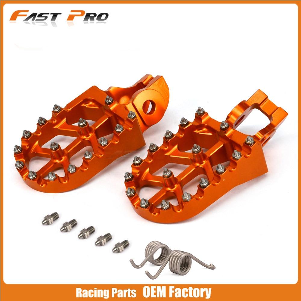 1a2b4eab382af Motocicleta Footpegs Apoio Para Os Pés Pedais Para 125SX 250-450SX-F 250SX  250