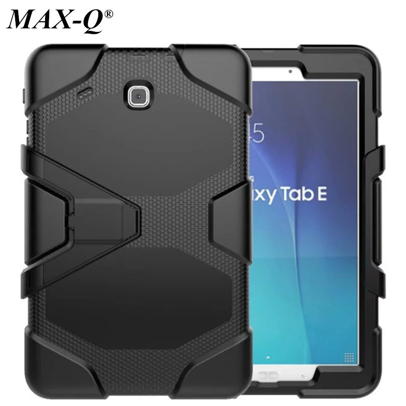 For Samsung Galaxy Tab E 9.6 T560 T561 New Fashion Shockproof Hard case Military Heavy Duty Silicone Rugged Stand Cover ...