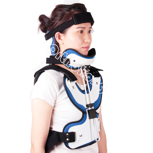 Adjule Cervical Thoracic Orthosis Lumbar Supports Fracture Neck Brace Chest After Surgery