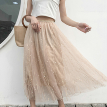 Tulle Mesh plus size skirts steampunk korean kawaii skirt women clothes 2019 lolita transparent  harajuku long