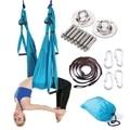 Volledige Anti-zwaartekracht Antenne Yoga Hangmat Set Multifunctionele Yoga Riem Vliegende Yoga Inversion Tool voor Pilates Body Vormgeven 15 kleur