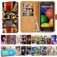 For Motorola Razr I Razr M Universal Printed PU Wallet Flip Flora Leather Case Cell Phone