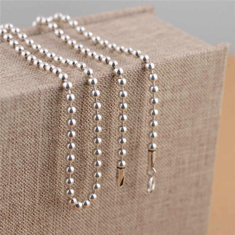 VYA, простые 925 пробы, серебряные цепочки, ожерелье s 3 мм, винтажные серебряные бусы, цепочка, ожерелье для женщин, женщин, детей, ювелирные изделия