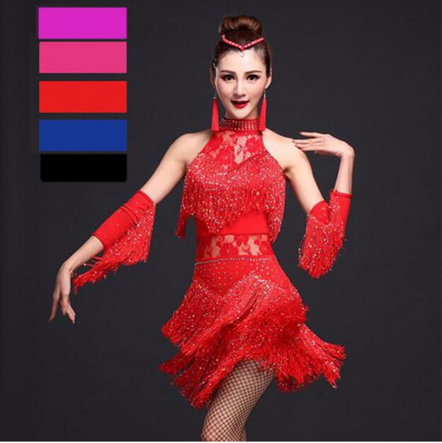 076b4ef28ca7 Women Latin Dance Dress Fringe Women Ballroom Dancing Dresses Latin ...