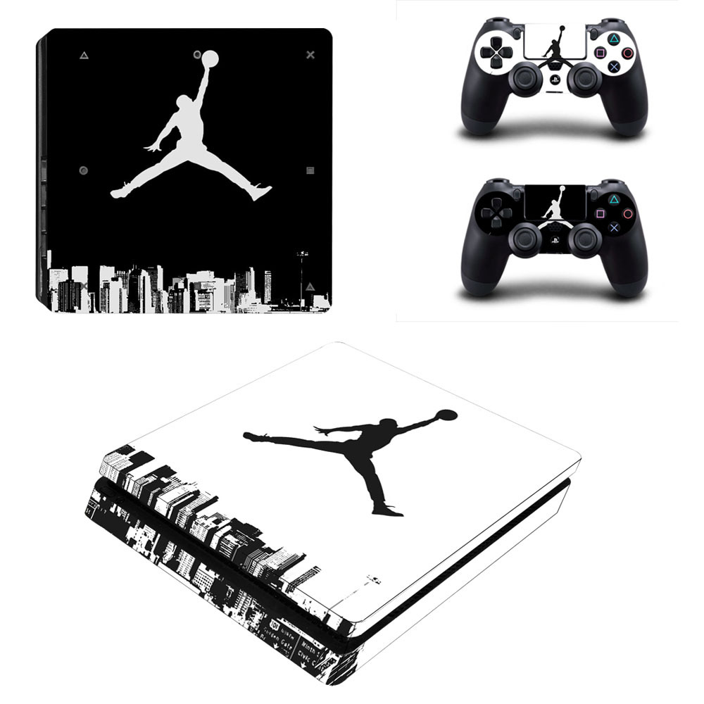 Nba basketball legned air jordan decal ps4 slim skin sticker for sony playstation 4 console and controller ps4 slim skin sticker