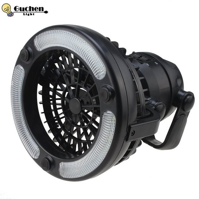 Portable Camping Fan Light 18 LED 2.5W 2 in 1 Outdoor Side Flashlight Hiking Fishing Camping Bicycle Lamp with Hanging Hook