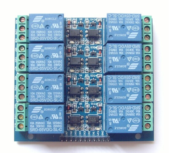 8 channel relay module 5V 10A optocoupler isolating relay module relay shield v1 0 5v 4 channel relay module for arduino works with official arduino boards