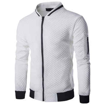 Mens Hoodies 2019 Male Brand Casual Zipper Jacket Stand-Neck Sudaderas Hombre Sweatshirt White Check 3D Plaid Tracksuit XXL - DISCOUNT ITEM  57% OFF All Category