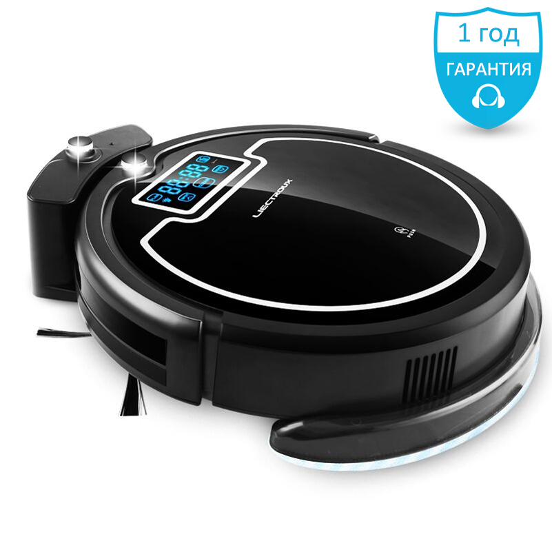 (free all) LIECTROUX B2005PLUS Vacuum Robot cleaner updated from X500 X600 Water tank virtual blocker,SelfCharge,UV home,battery купить в Москве 2019