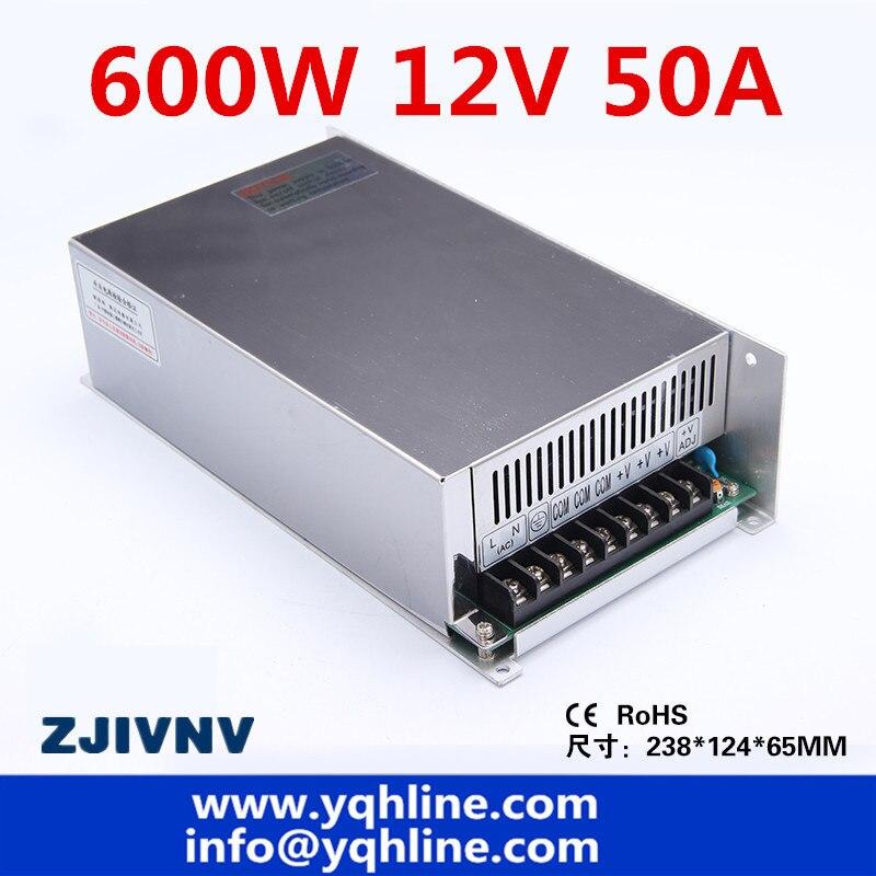 S-600-12V CE approuvé haute qualité ac à dc unique sortie 12V 50A 600w alimentation à découpage fabriqué en chine