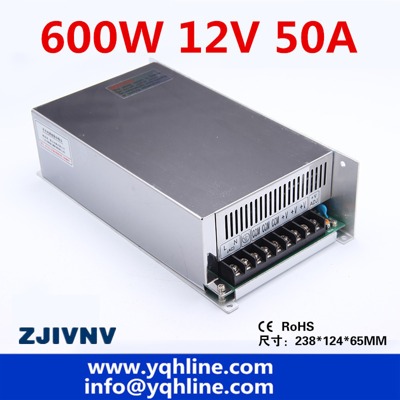 цена на S-600-12V CE approved high quality ac to dc single output 12V 50A 600w switching power supply made in China