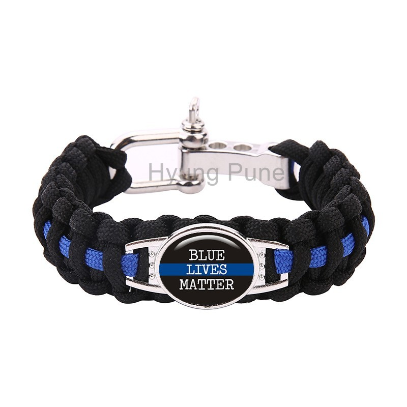 line clasp in paracord home survival item support garden from metal bracelet buckles thin hooks blue police matter lives