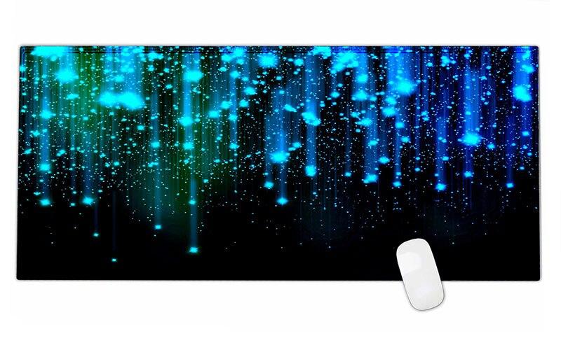 Bleu ciel étoilé en caoutchouc gaming mouse pad bureau tapis pour