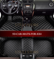 Car Floor Mats For SUZUKI SX4 2006 2016 Custom Fit Car All Weather Carpet Floor Liners