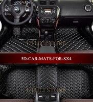 Car Floor Mats For SUZUKI SX4 2006 2016 Custom Fit Car All Weather Carpet Floor Liners
