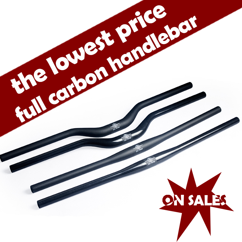 Carbon Fiber Bicycle Handlebar Matt / Glossy Mountain Bike Carbon Handlebar One-shaped / Swallow Mtb Bicycle Parts 600mm - 720mm fouriers hb mb014 320 mtb mountain bike swallow shaped rise handlebar carbon fiber mountain diameter 31 8mm x width 660mm