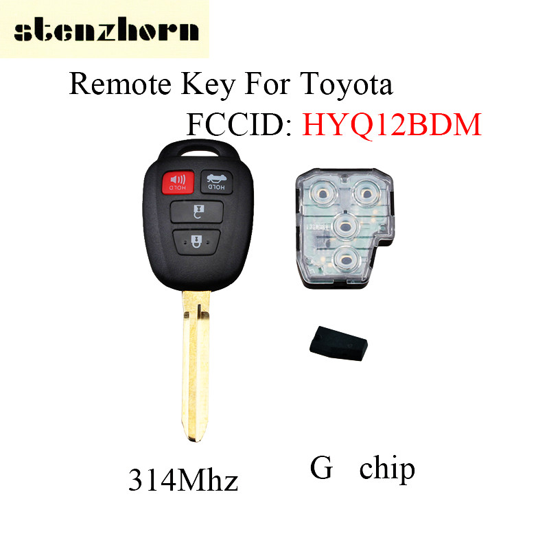 цена на Stenzhorn 4Button Replace Remote Car Key For Toyota Camry 2012 2013 2014 2015 2016 2017 HYQ12BDM original key G/H Chip optional