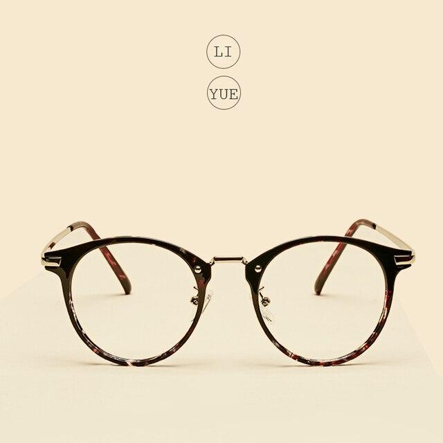 de7b87191c7d2 LIYUE Nova Moda Feminina Óculos Top Quality Rodada Óculos Armação de óculos  de miopia quadro homens