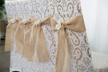 Burlap Ribbons  Vintage Natural Jute Hessian DIY Fabric Bowknot Scrapbooking for Wedding Party Deco