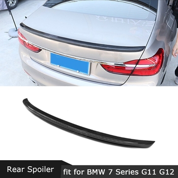 For BMW G11 G12 740i 750i Rear Spoiler 2016-2018 AC Style 7 Series Trunk Boot Trim Sticker Wings Car Styling