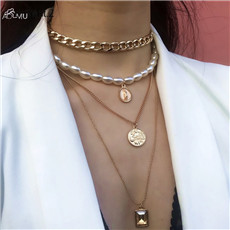 AOMU-Punk-Multi-Layered-Pearl-Choker-Necklace-Collar-Statement-Virgin-Mary-Coin-Crystal-Pendant-Necklace-Women