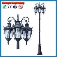 3 미터 가로 도로 조명 잔디 램프 기둥 막대 방수 도로 램프 야외 가로등