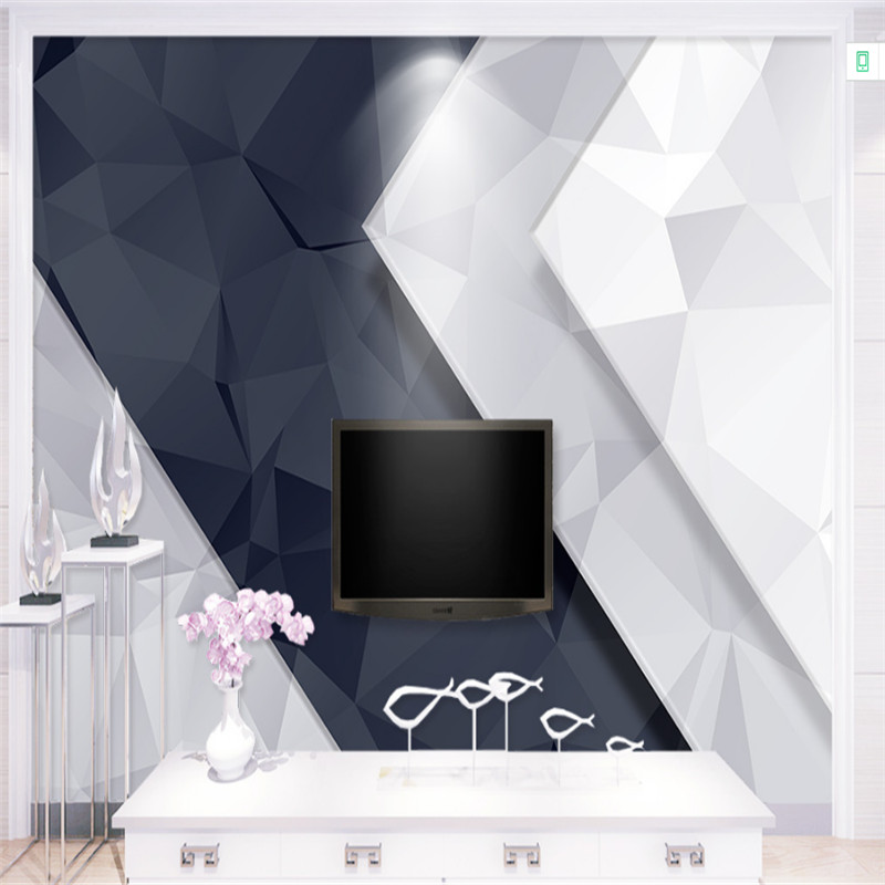 customized modern 3d photo wallpaper 3d mural wallpaper simple and stylish geometric wallpaper TV background wall home decor new can customized waterproof wall stickers art 3d large big wallpaper sky mural restaurant sofa tv background home decor