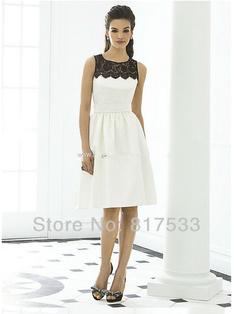 Bridemaid Dress Junior Black And Ivory Formal Dresses Juniors