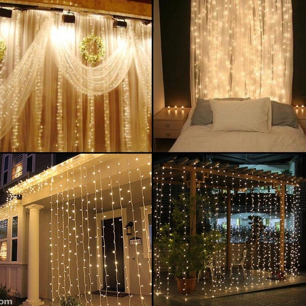 comprar ao nuevo m x m led navidad exterior decoracin de la boda de hadas cadena de cortina de luces de navidad luci di natale