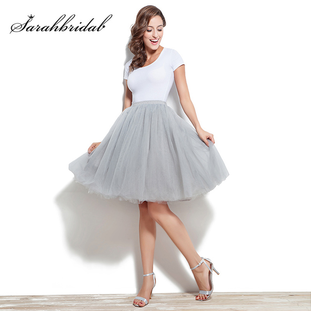 Adult Tutu Petticoat Performance Modern Dance Skirt Princess Fluffy Tulle Ballet Skirt Fairy Net Underskirt Size S to 5XL 12021