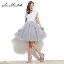 9c9749f2bf Venta caliente falda de tutú rodilla longitud de la boda accesorios 6 capa  Tulle Underskirt vestido de las mujeres Rockabilly TA.