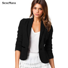 S-6xl Real New Women's Blazer 2017 Spring Lapel Neck Stylish Fashion Slim Fit Female Women Office Work Suit Jackets Plus Size
