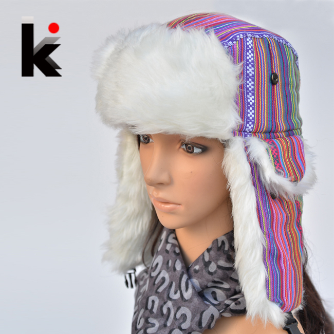 776257ebcd231 Detail Feedback Questions about winter Warm Proof Trapper Hat Women caps  Russian Hat ear flaps bomber hats for women on Aliexpress.com