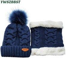 Winter Child Hat set Plush Heat Child Cap Scarf Toddler Hat Child Hats for Boys Women Kids Cap Scarf-Collars Ladies Males Caps