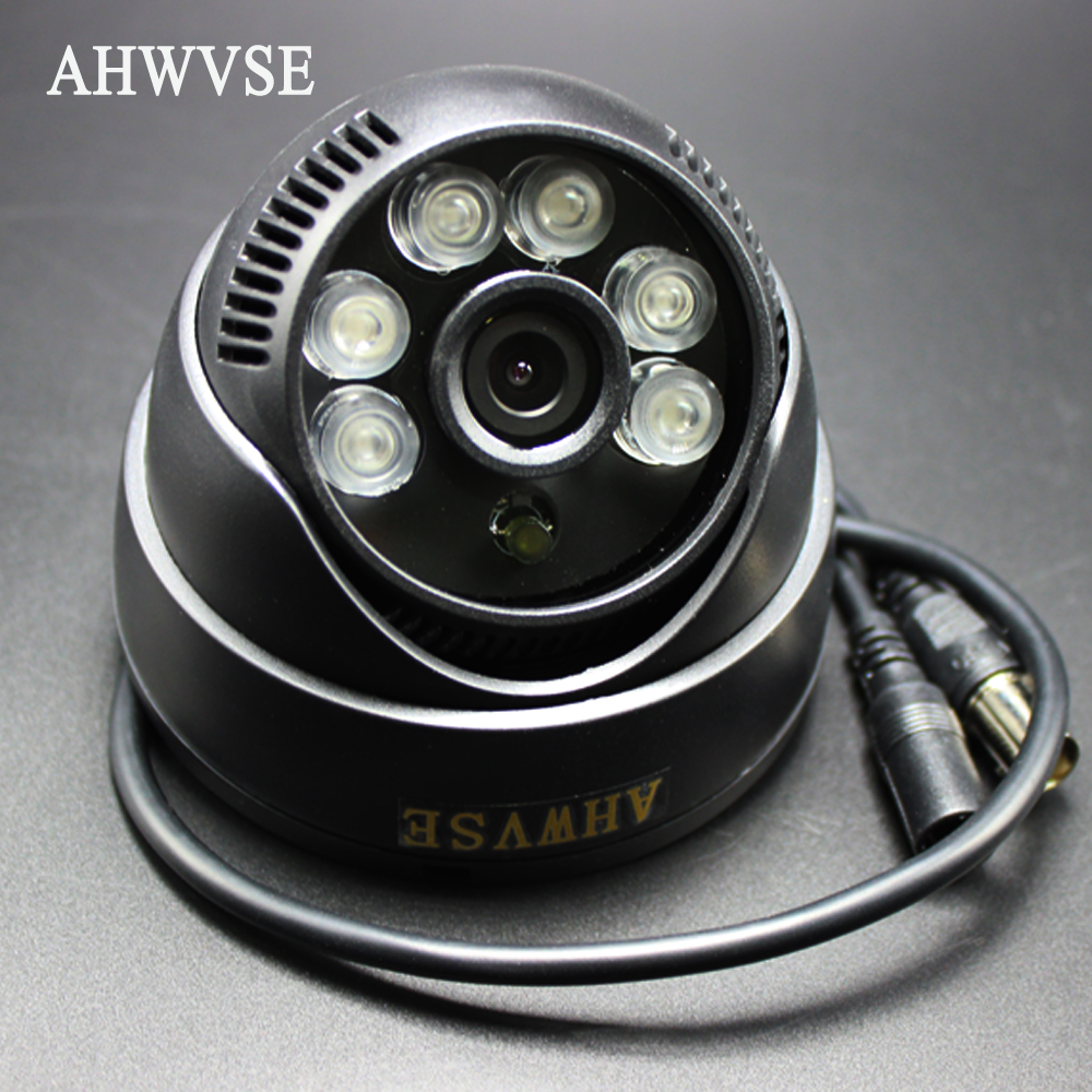 AHWVSE Mini IR Dome Analog Camera with cmos sensor and wide Angle 3.6mm len Video Surveillance Cam