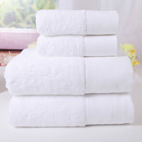 3pc Premium Towel Set Luxury Hotel & Spa Quality 100% Cotton for Maximum Softness and Absorbency White Bath Face Hand One Each