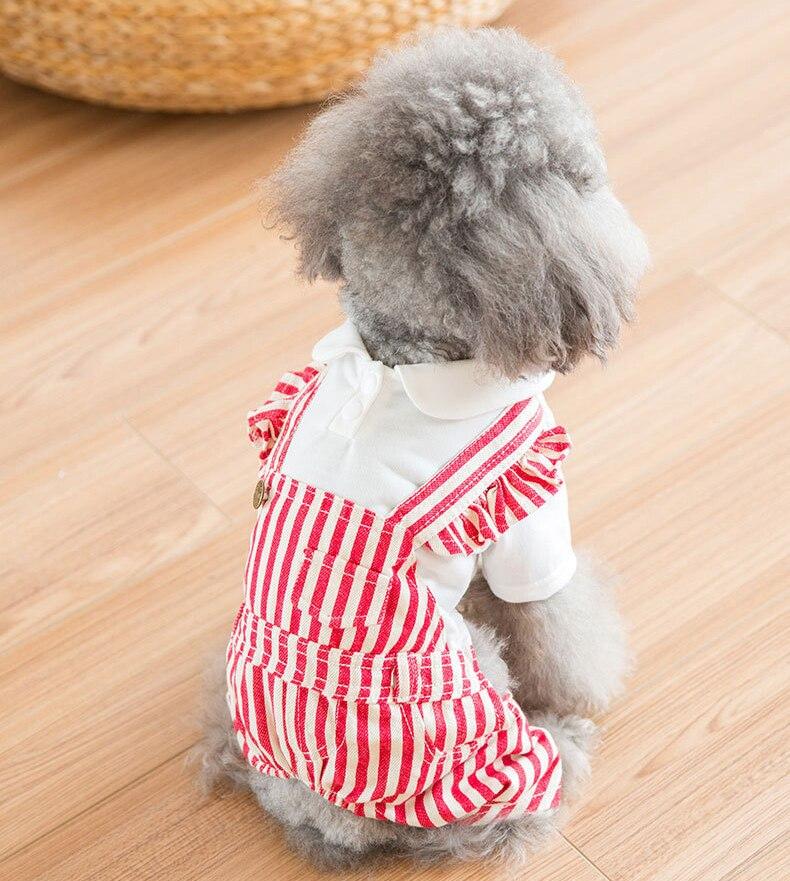 Four Legs Warm Jumpsuit Pet Clothes for Dog Cat Puppy Hoodies Coat Winter Sweatshirt Warm Sweater,Black /Red Stripe 10A