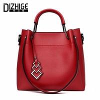 DIZHIGE Brand Luxury Handbags Women Bag Designer Soft PU Leather Shoulder Bag Ladies Small Ribbons Tote