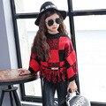 Camisolas das crianças, meninas 2016 blusas de inverno Coreano das crianças vestuário de malha de lã roupas frete grátis