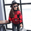 Children's sweaters, girls 2016 winter sweaters Korean children's clothing knitted wool clothing free shipping