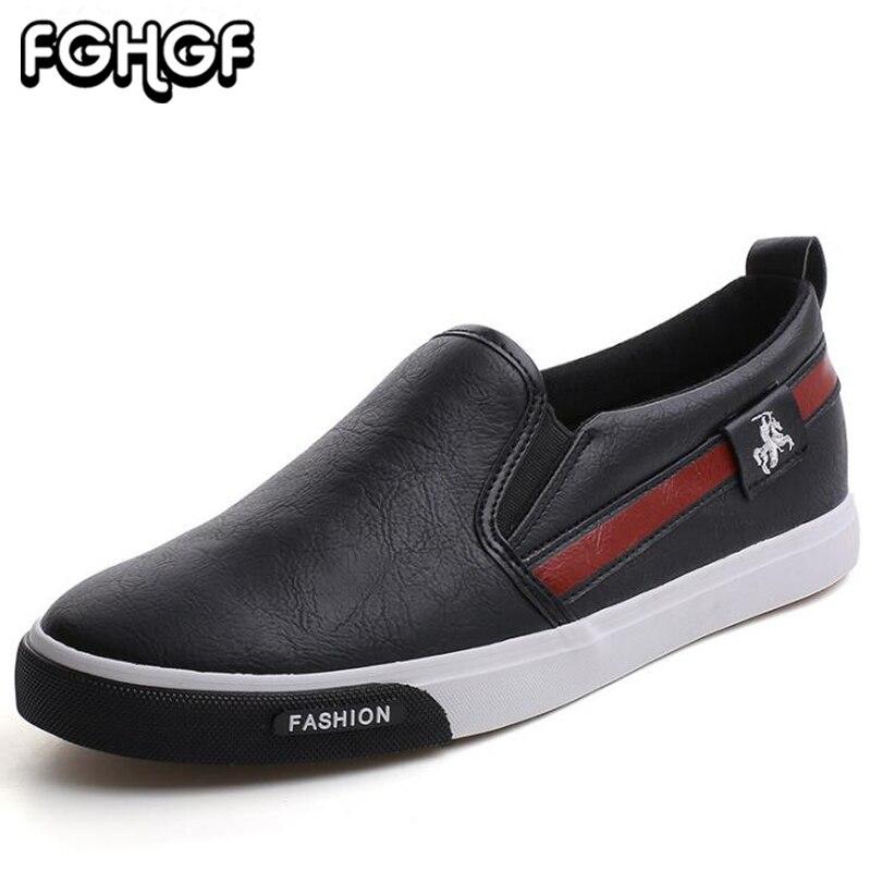 חם חדש לגפר נעלי גברים להחליק על מוקסינים חיצוני הליכה סניקרס נוחות שטוח לגברים עור מפוצל זכר נעלי נעלי ספורט y53