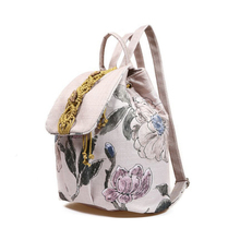 2016 Floral Printed Backpack for Women Canvas School Bags Fashion Women's Bags Rucksack for Girl Student Mochilas Mujer