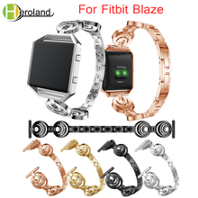 Stainless Steel Crystal Band For Fitbit Blaze smart replacement watchband WristStrap For Fitbit Blaze bracelet Watch Accessories crested for fitbit blaze frame replacement stainless steel case activity tracker smart watch accessories