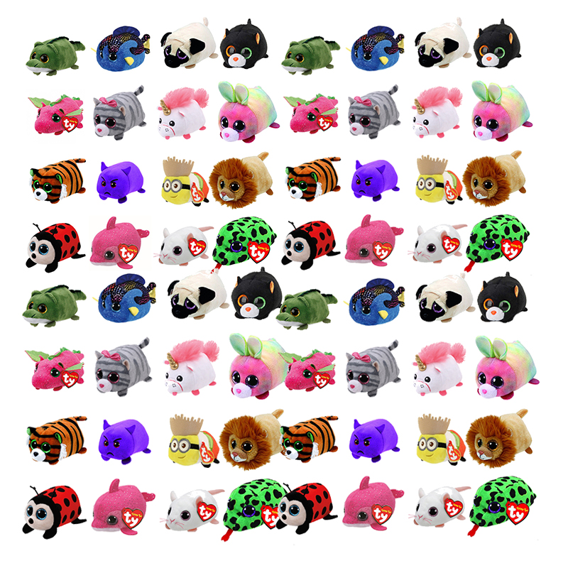 TY Beanie Boo teeny tys Plush - Icy the Seal 9cm Ty Beanie Boos Big Eyes Plush Toy Doll Purple Panda Baby Kids Gift мягкая игрушка ty beanie boo s котенок sophie 15 см