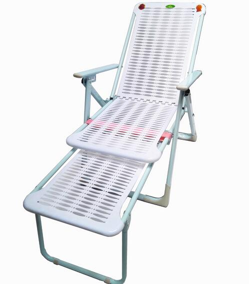 Outdoor Sun Lounger Folding Deck Chair Beach Leisure Plastic Lazy Office Ning