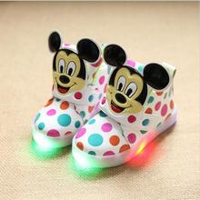 Children Shoes New Autumn Led Shoes Girls Princess Cartoon Cute Shoe Children With Light Size 21-30 Glowing Sneakers Enfants