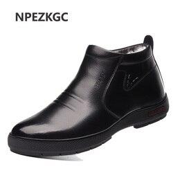 Sapatas quentes da neve do inverno dos homens, sapatas de trabalho dos homens calçados da forma botas de tornozelo de borracha ao ar livre sapatos casuais para homem
