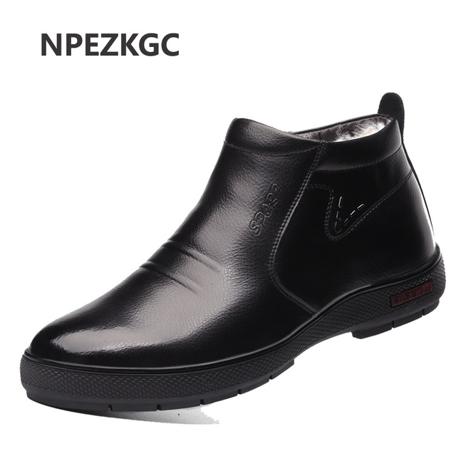 Warm Mens Shoes Winter Snow Boots, Mens Work Shoes Fashion Footwear Rubber Ankle Boots Outdoor Casual Shoes for men